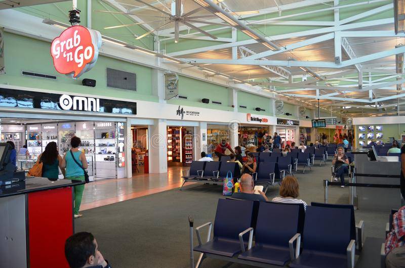 Curacao Hato Departure Hall stock images
