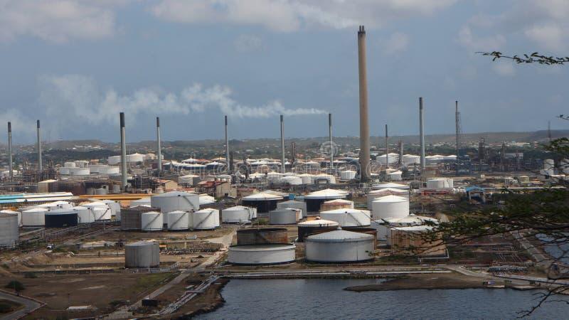 Curacao industriezone royalty-vrije stock foto's