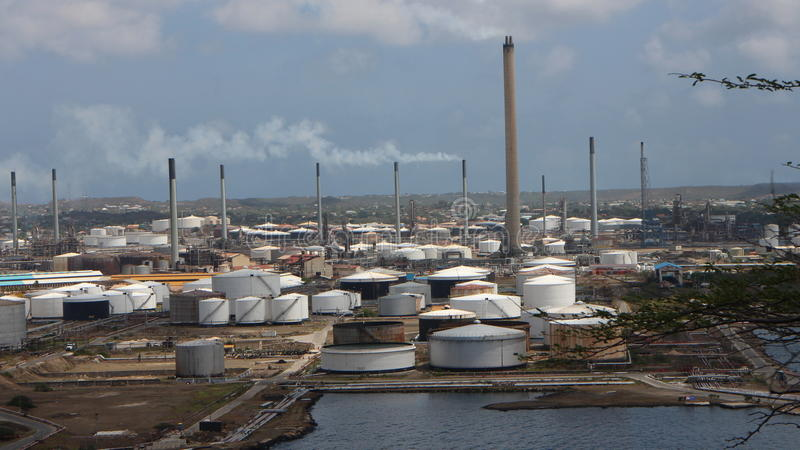 Curacao Przemysłowy teren zdjęcia royalty free