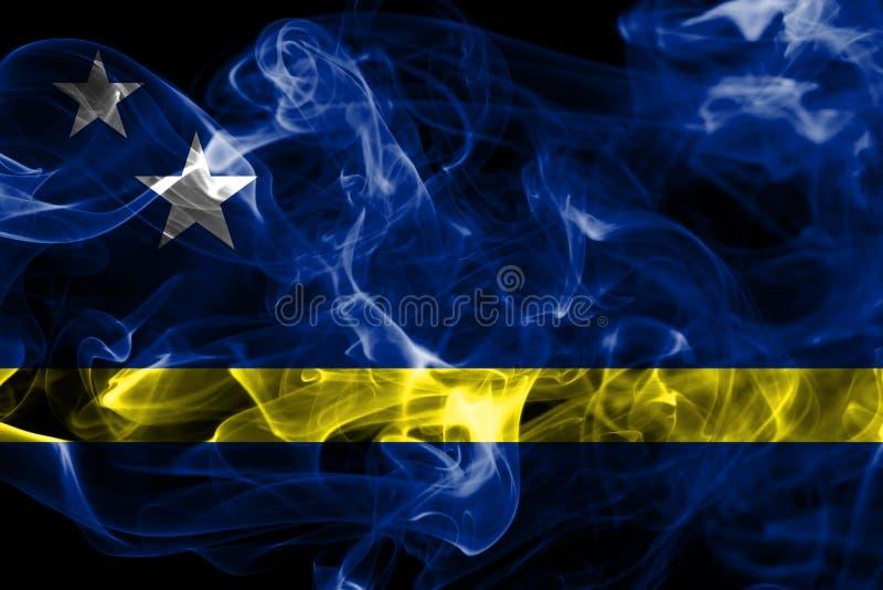 Curacao röker flaggan, nederländsk beroende territoriumflagga arkivfoton