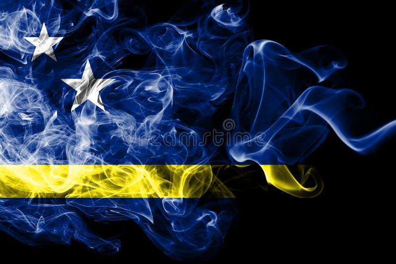 Curacao röker flaggan, nederländsk beroende territoriumflagga vektor illustrationer