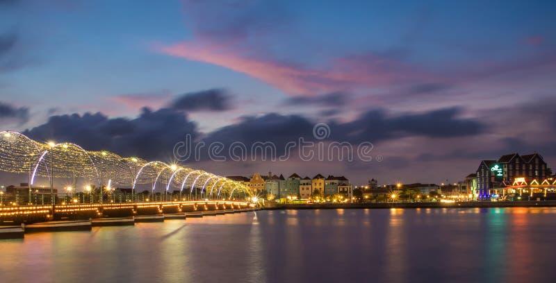 Curacao solnedgång royaltyfri bild