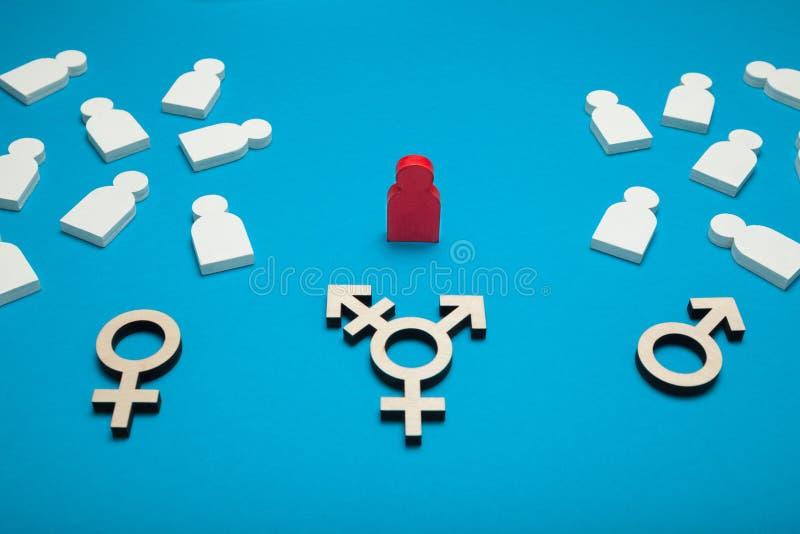 Curación bisexual del transexual, discriminación Fondo para una tarjeta de la invitaci?n o una enhorabuena fotografía de archivo