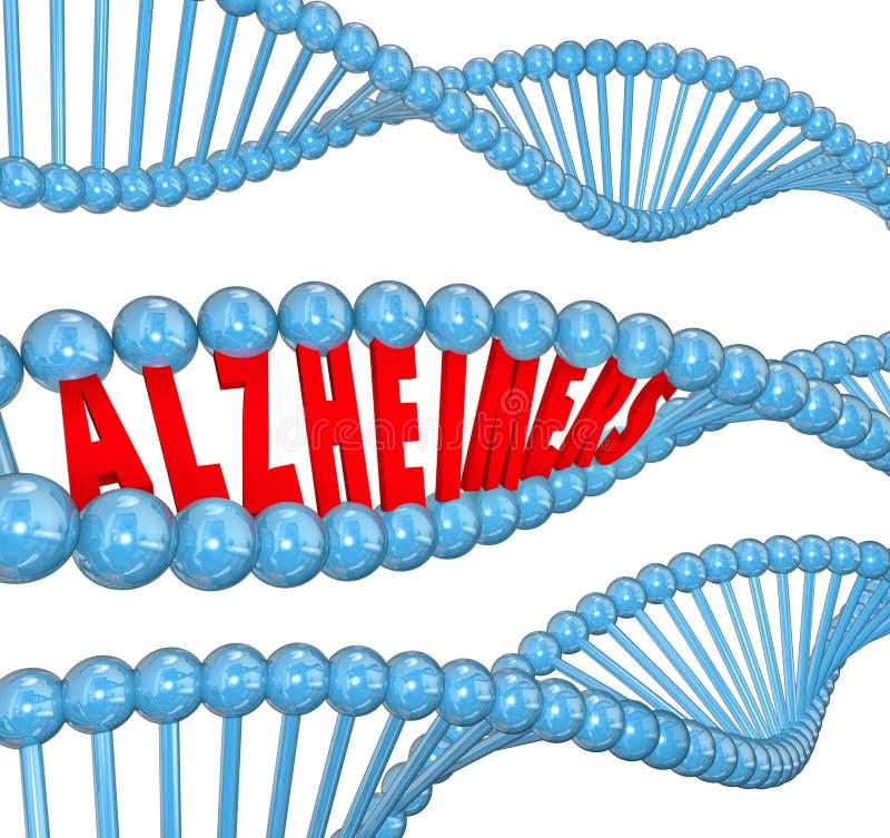 Curación de la investigación médica del filamento de la DNA de la enfermedad de Alzheimer libre illustration