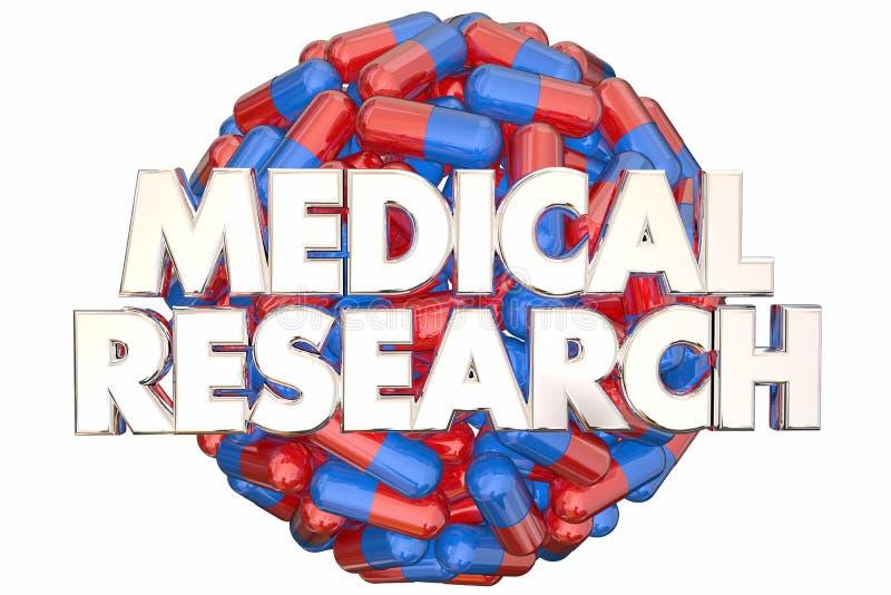 Curación del hallazgo de las píldoras de las cápsulas de la medicina de la investigación médica libre illustration
