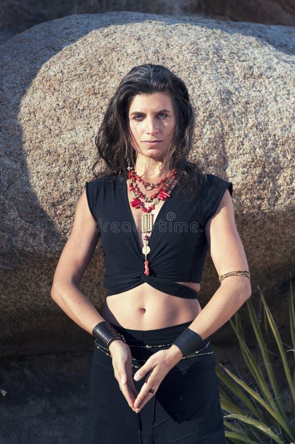 Curandeiro Woman Priestess Portrait fotos de stock royalty free