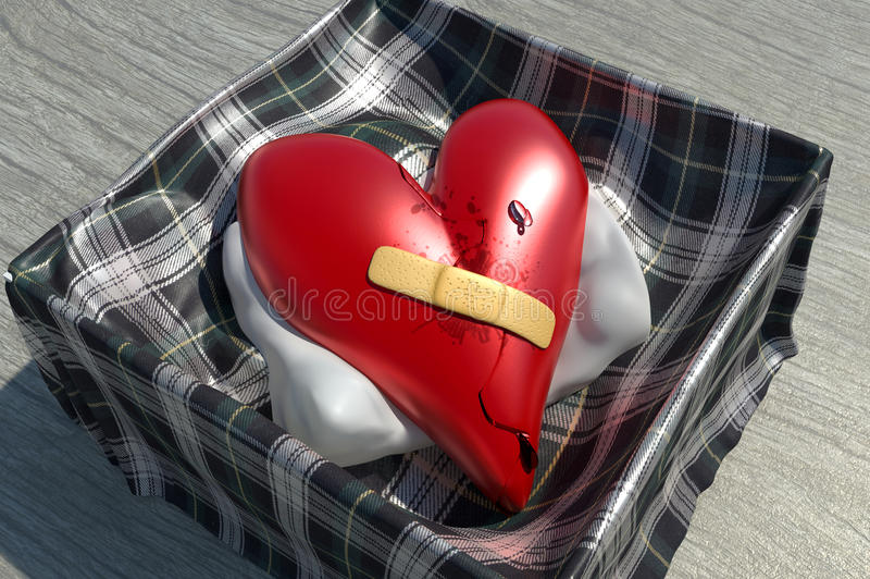 Curando um coração danificado ilustração royalty free
