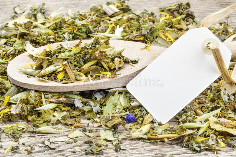 Curative natural herbal tea stock photo