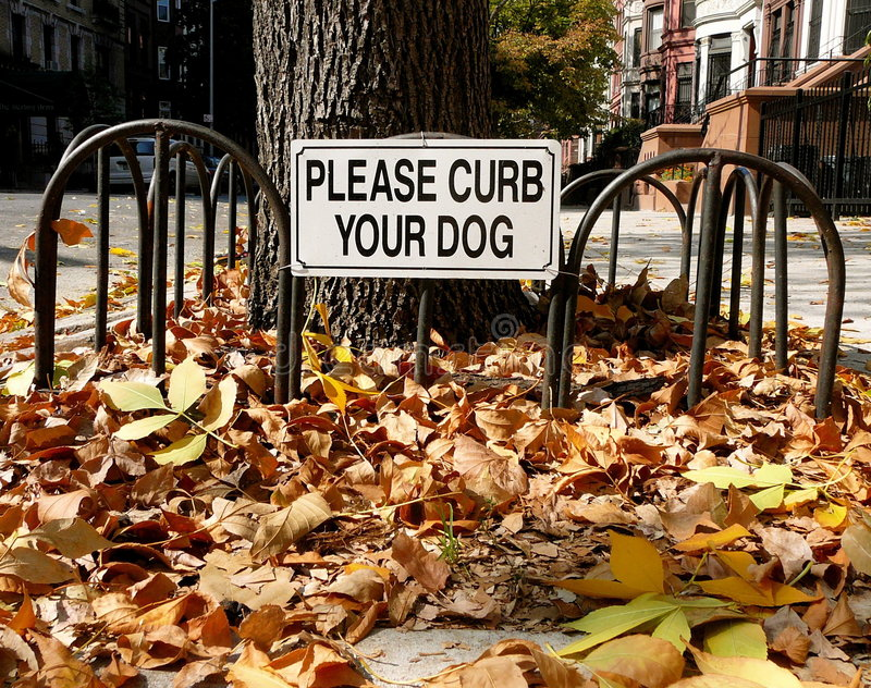 Download Curb Your Dog Sign Stock Photography - Image: 3321352