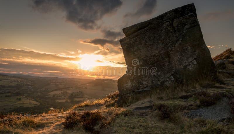Curbar Edge Peak District royalty free stock photos