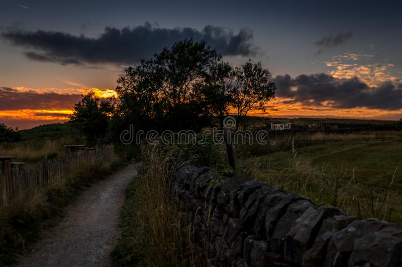 The path to the end of the world royalty free stock photography