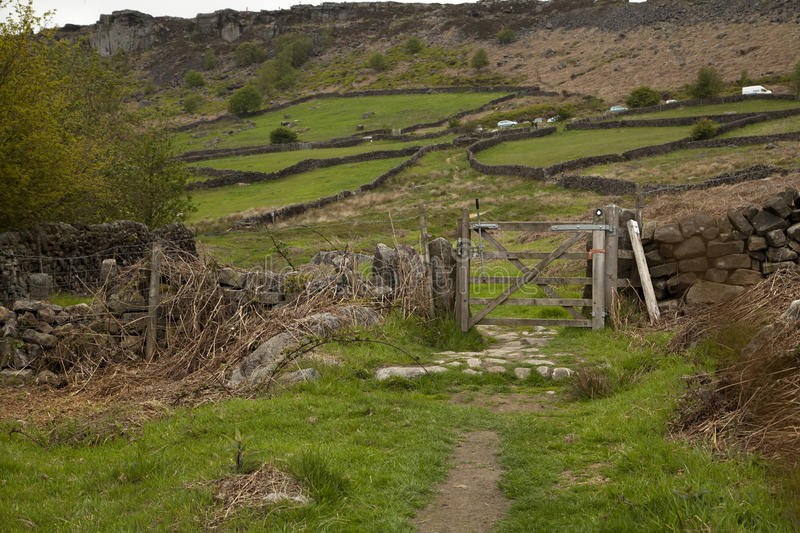 Curbar Edge in the Peak District stock photography