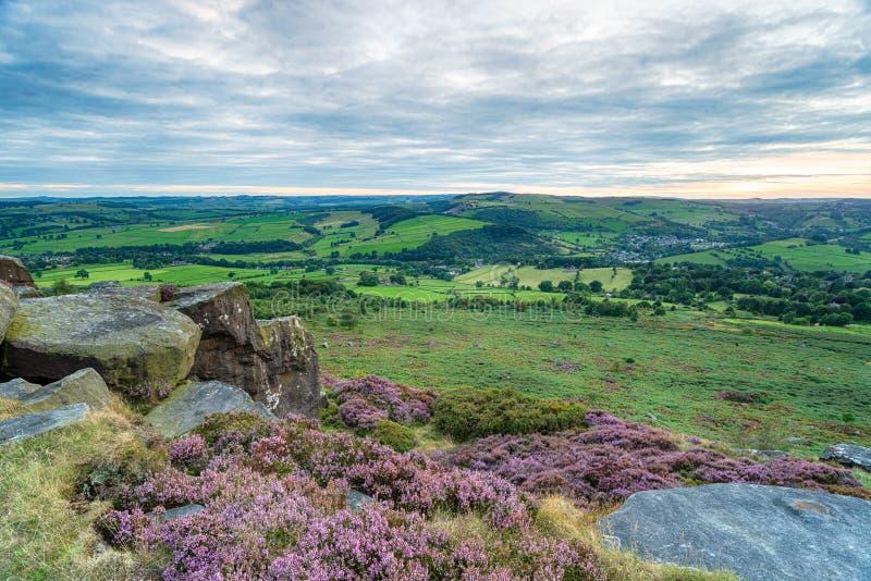 Curbar-Rand in Derbyshire stockfoto