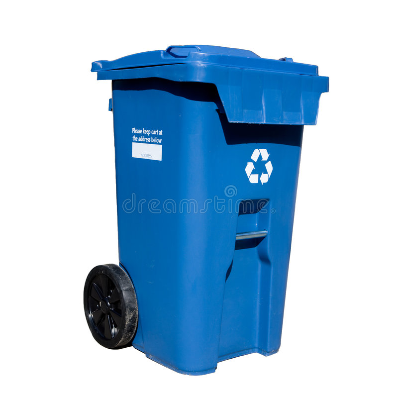 Download Curbside Recycle bin stock photo. Image of blue, symbol - 8833786