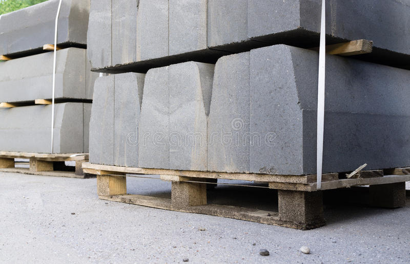 Curbstone on pallet royalty free stock photo