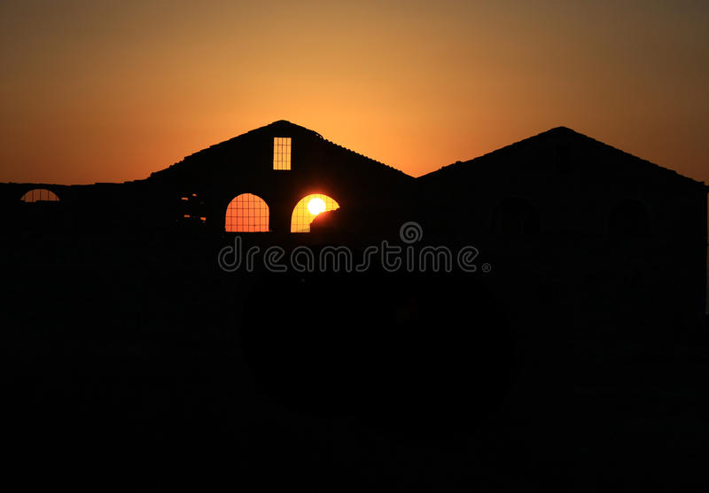 Curch at Sunset stock photos