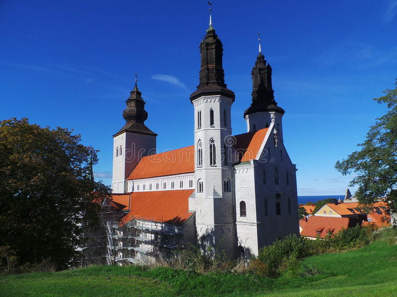 The curch of Visby royalty free stock photography