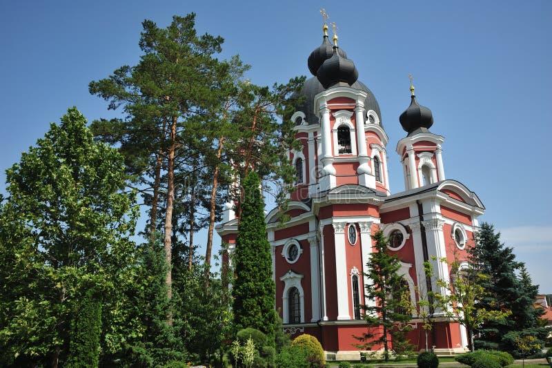 Curchi, Orhei, Republiek Moldavië, de Zomer van 2017: Een mening van Curchi-Klooster royalty-vrije stock foto