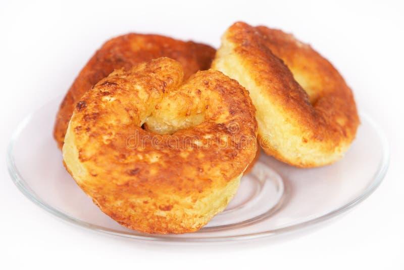 Curd pancake stock photo