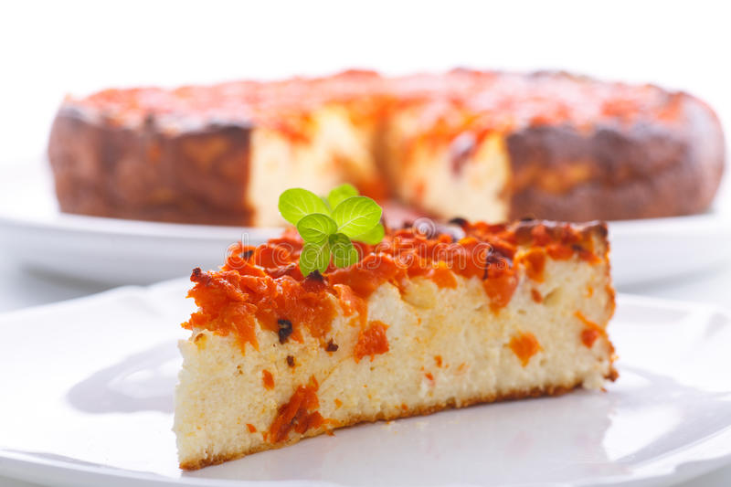 Download Curd Pudding With Chunks Of Pumpkin Inside Stock Photo - Image: 83705434