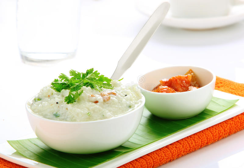 Curd rice stock image