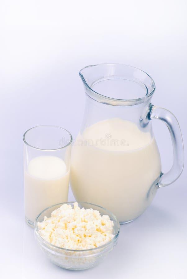 curds mleko fotografia stock