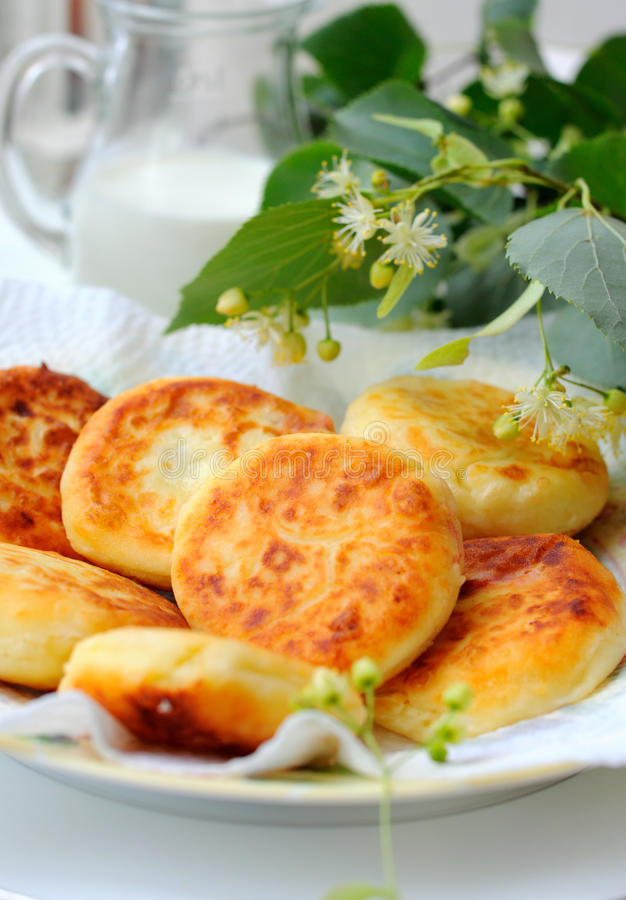 Curds pancakes royalty free stock photos