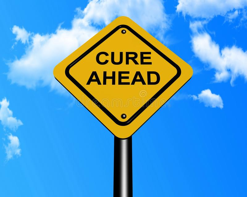Download Cure Ahead Sign Post Royalty Free Stock Photography - Image: 24896087