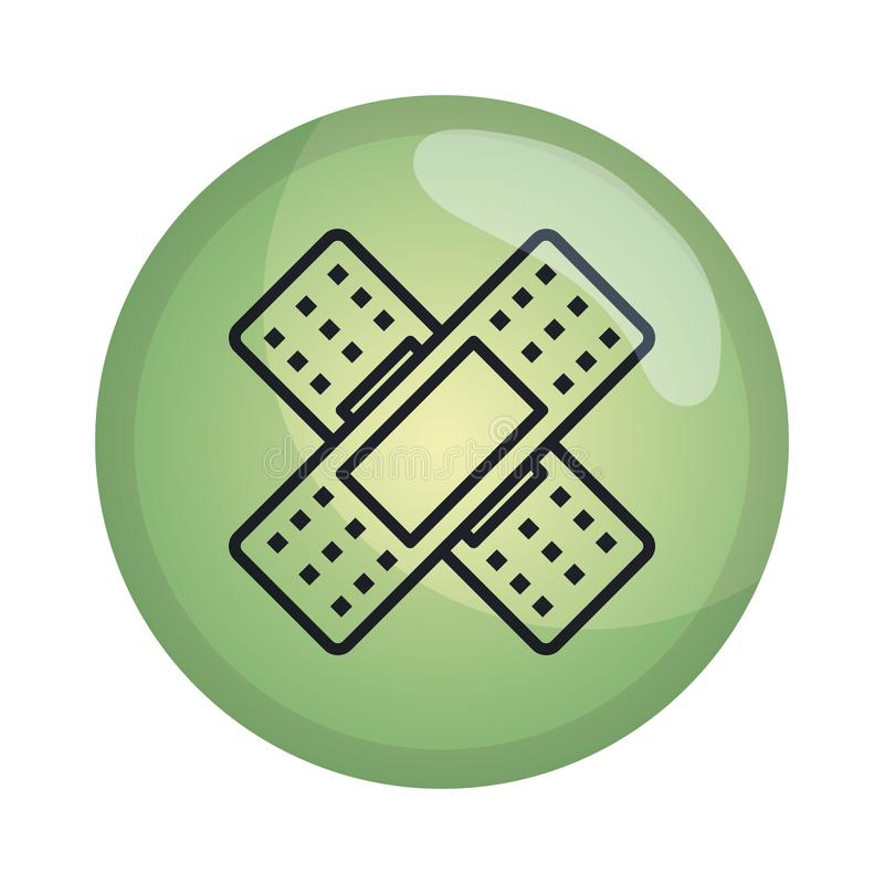 Cure bandages isolated icon. Vector illustration design royalty free illustration