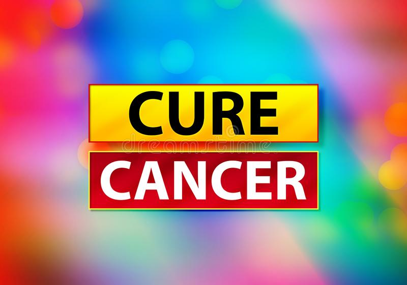 Cure Cancer Abstract Colorful Background Bokeh Design Illustration royalty free illustration