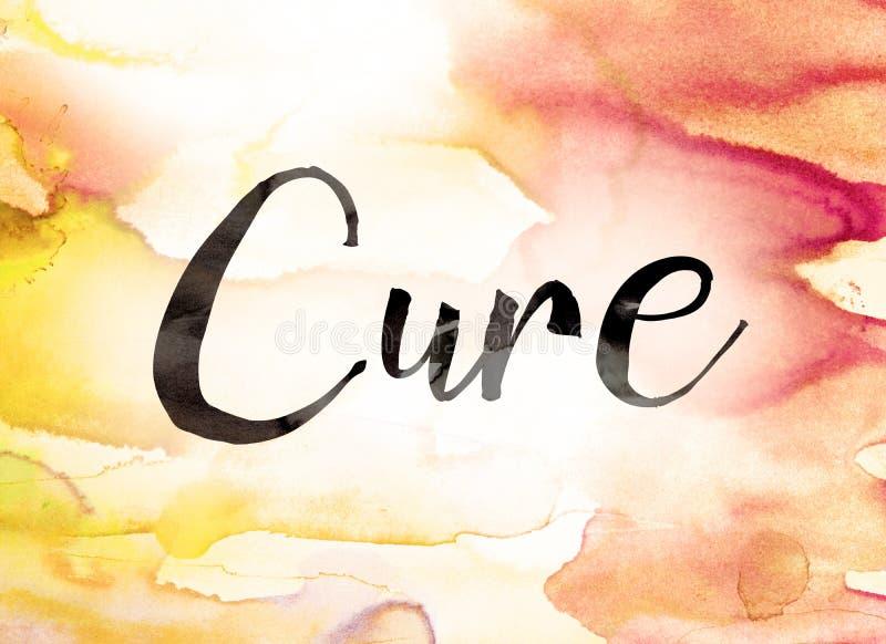 Cure Concept Watercolor Theme stock illustration
