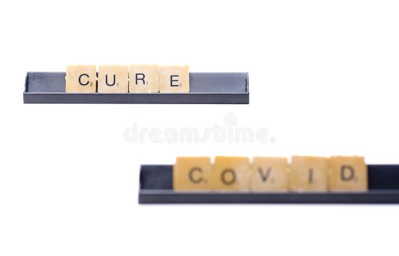 Cure covid blur royalty-vrije stock foto's