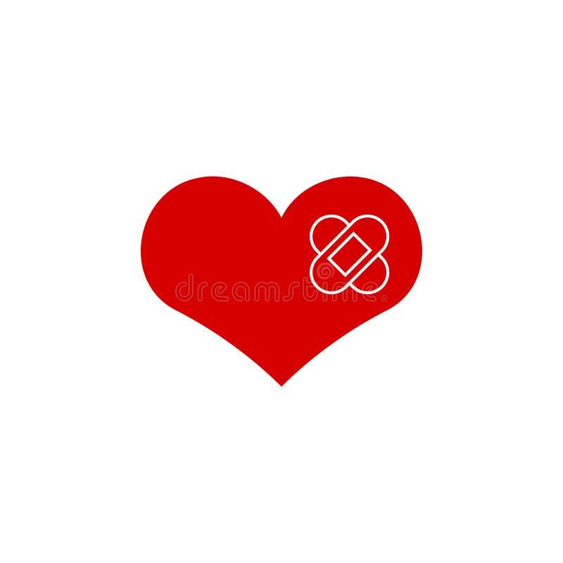 Cure el ejemplo del vector de la plantilla del diseño gráfico del icono del corazón libre illustration