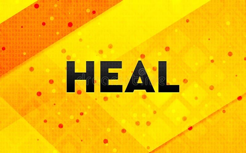 Cure el fondo amarillo de la bandera digital abstracta libre illustration