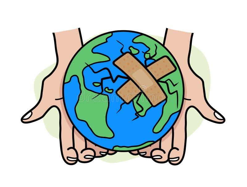 Cure el mundo ilustración del vector