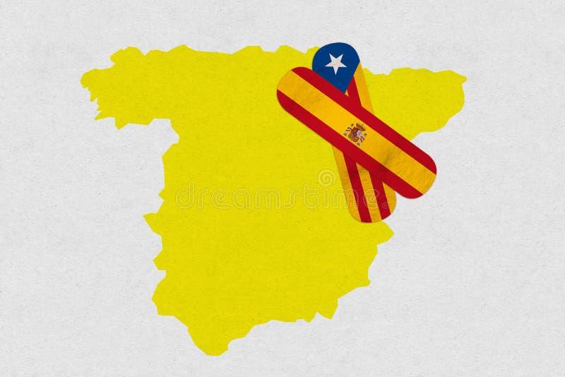Cure España y Cataluña stock de ilustración