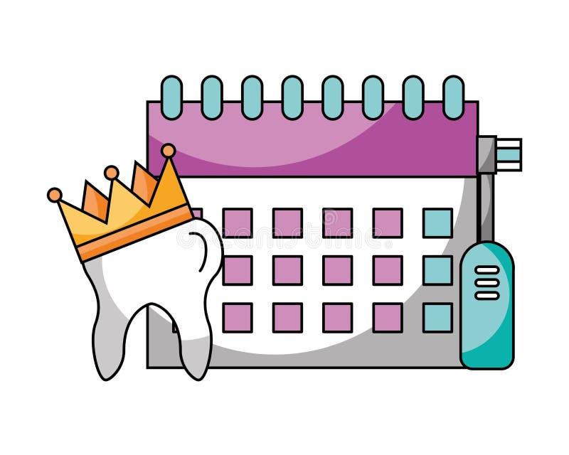 Cure odontoiatriche di igiene illustrazione di stock