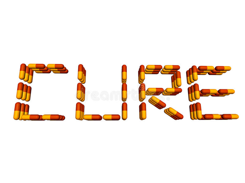 Download Cure Text By Pills Isolated On White Stock Illustration - Illustration of text, risk: 11163780