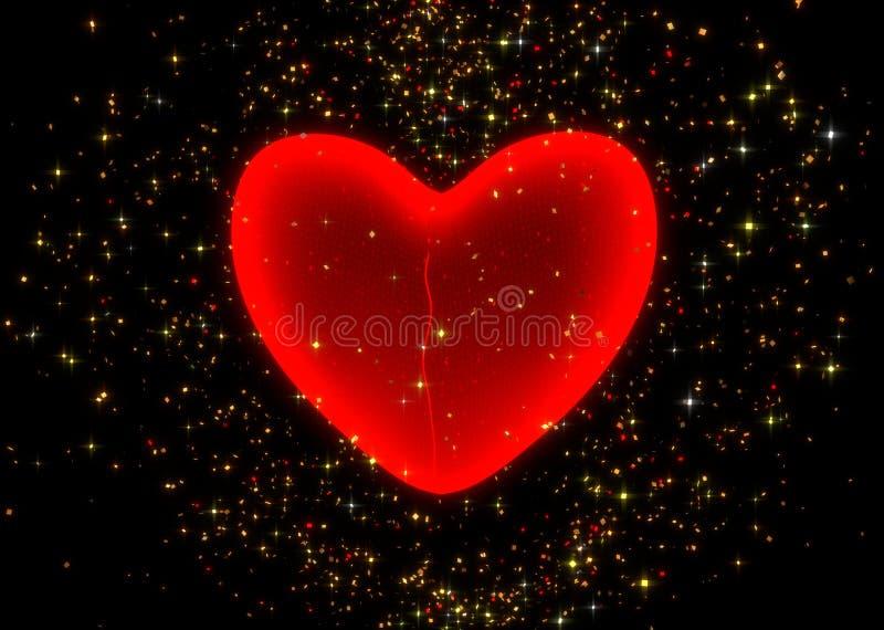 Cure un corazón quebrado - 3d rinden stock de ilustración