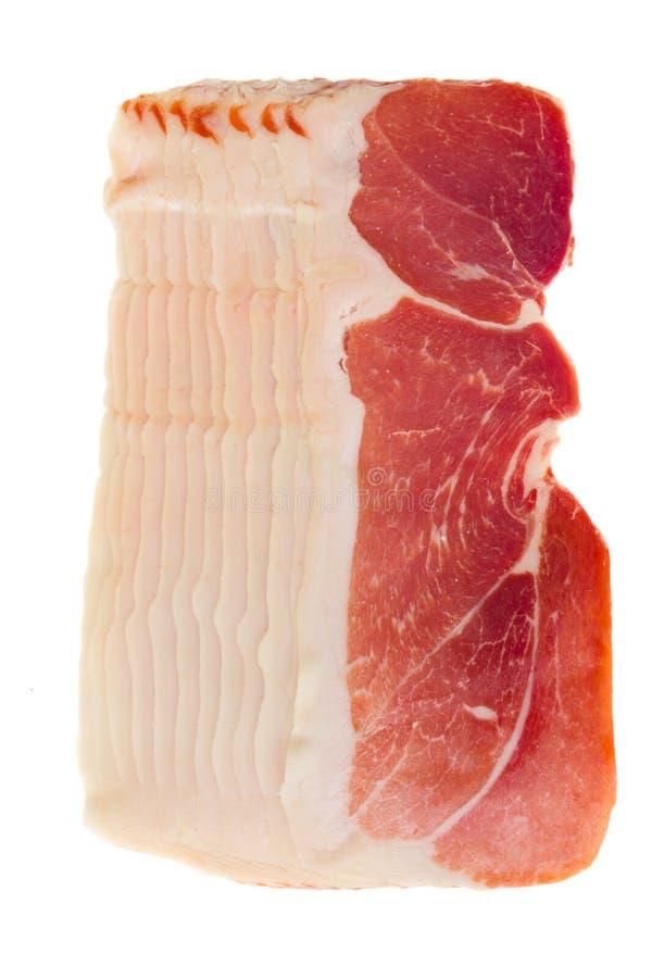 Cured ham royalty free stock photos