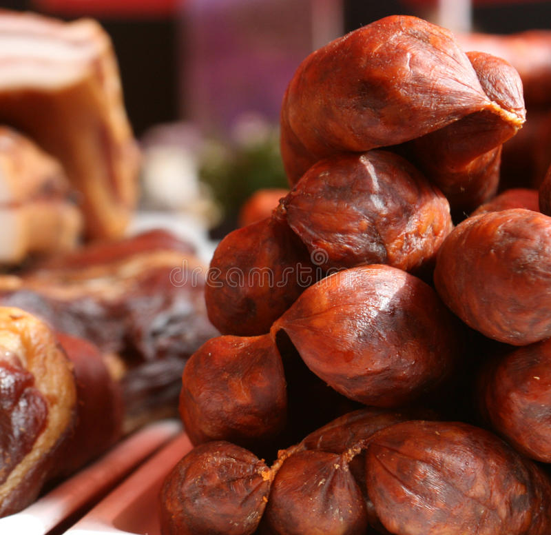 Download Cured Meat / Sausages stock image. Image of protein, food - 29815519