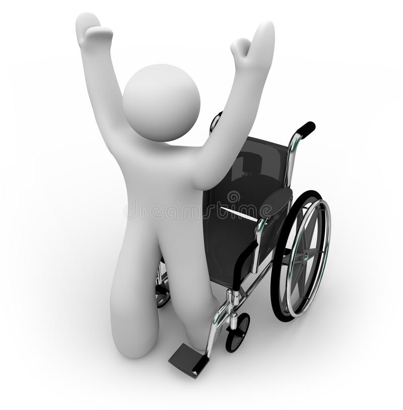 Free Cured Person Rising From Wheelchair Stock Images - 11821434