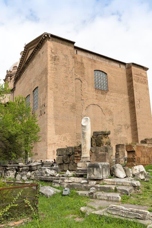 Curia Julia på Roman Forum, Rome, Italien, Europa royaltyfri bild