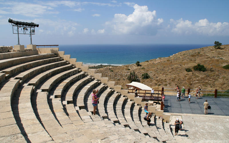 Curion amphitheatre. Cyprus royalty free stock images