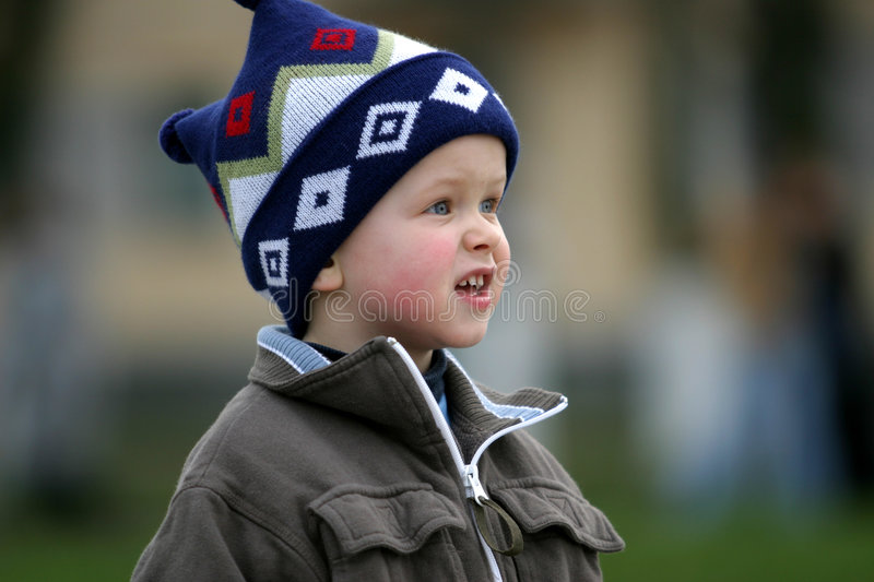 Curious Boy royalty free stock photography