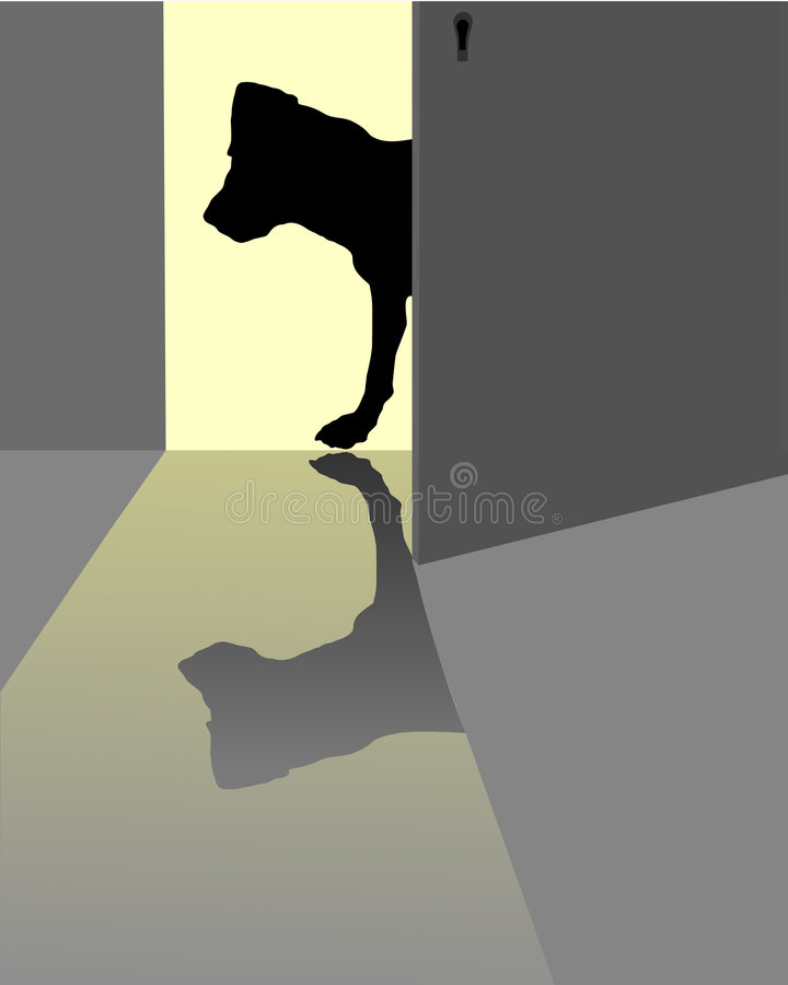 Download Curious dog stock vector. Image of mammal, light, look - 7407658