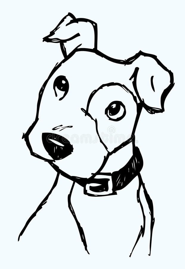 Curious Dog Sketch Royalty Free Stock Photo