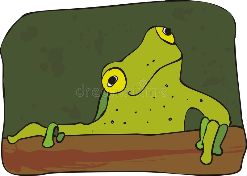 Download Curious frog stock vector. Image of cute, camouflage, leaf - 5481565