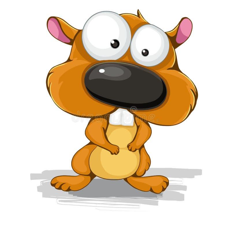 Curious hamster. Color vector illustration cartoon hamster royalty free illustration