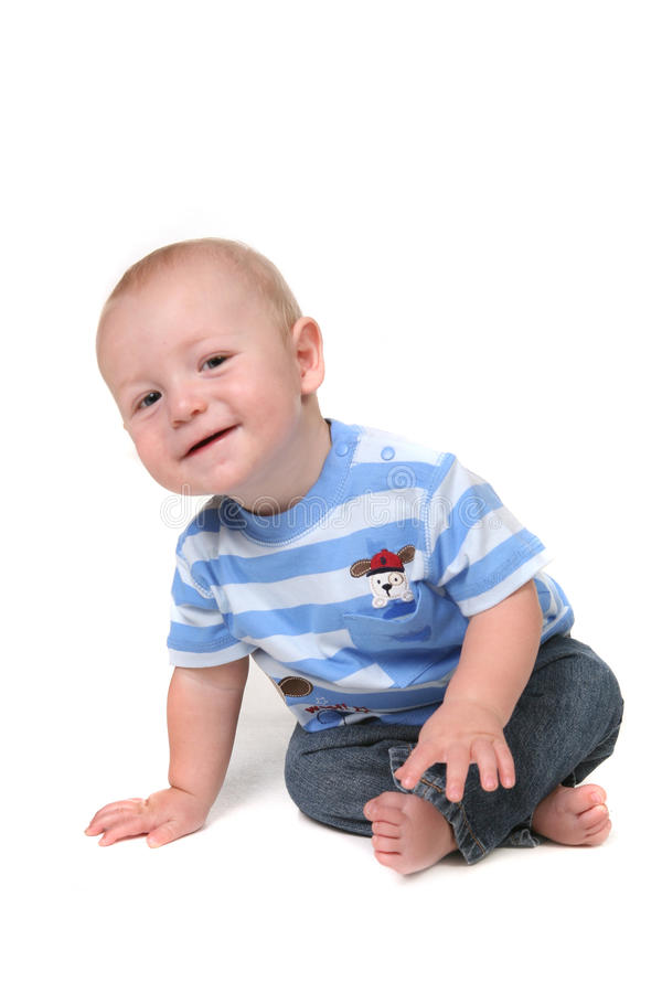 Curious Little Baby Boy Royalty Free Stock Image
